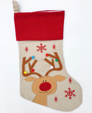 Personalised Christmas Stocking - Rudolph