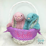 Personalised Willow Wicker Easter Basket - Purple