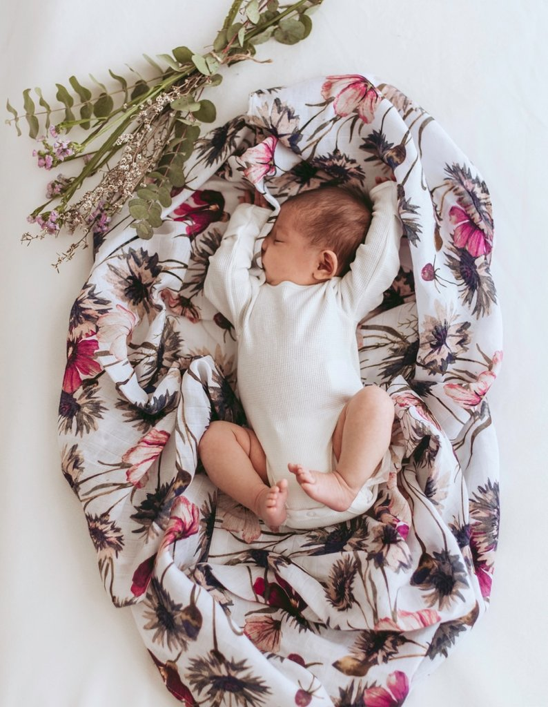 All About Aster Muslin Swaddle