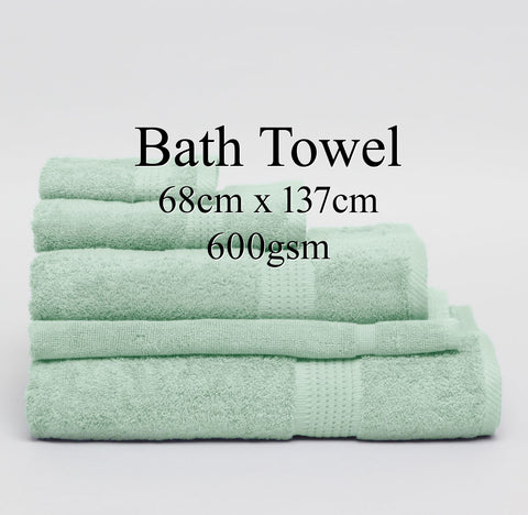 Personalised Bath Towel - ASH GREEN