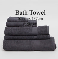 Personalised Bath Towel - BLACK