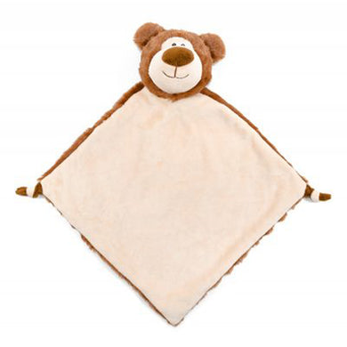 Personalised Brown Bear Blankie comforter soother