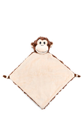 Personalised Monkey Blankie soother comforter