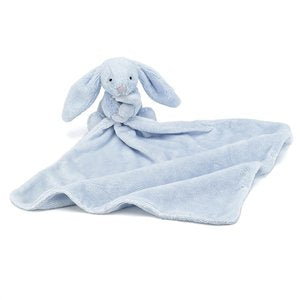 Personalised Jellycat Bashful Bunny - Blankie Soother Blue