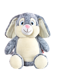 Personalised Grey Bunny Cubby