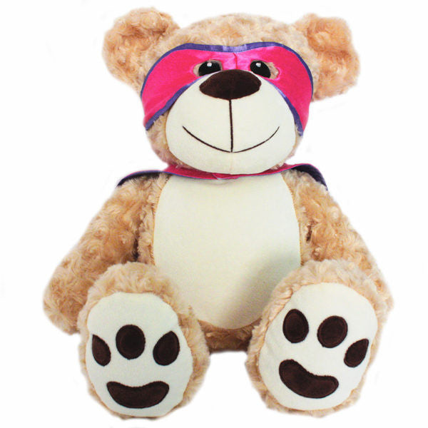 Personalised Courageous Bear - Pink