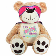 Load image into Gallery viewer, Personalised Courageous Bear - Pink