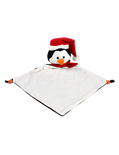 Load image into Gallery viewer, Personalised Penguin Blankie comforter soother christmas
