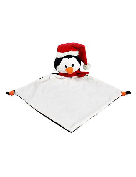 Personalised Penguin Blankie comforter soother christmas
