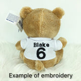 Personalised AFL #1 Bear - Collingwood Magpies