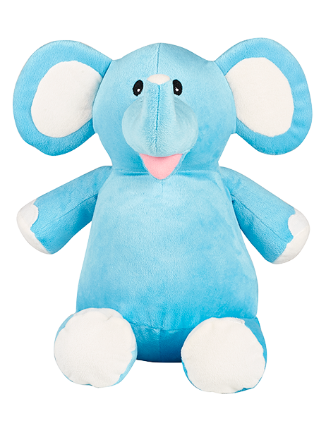 Personalised Blue Elephant Cubby
