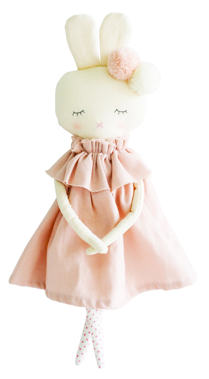Personalised Alimrose Isabelle Bunny 40cm Pink Linen