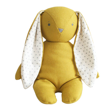 Personalised Alimrose Bobby Floppy Bunny 25CM - BUTTERSCOTCH LINEN