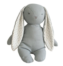 Load image into Gallery viewer, Personalised Alimrose Bobby Floppy Bunny 25CM - GREY LINEN