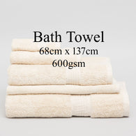 Personalised Bath Towel - OATMEAL