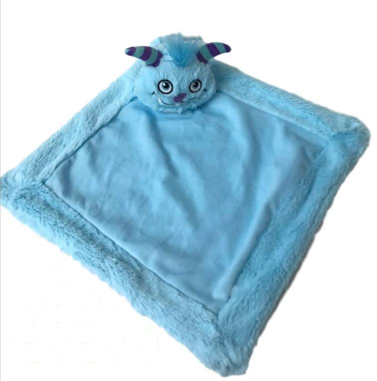 Personalised Blue Monster Blankie Comforter Soother