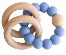 Load image into Gallery viewer, Alimrose Beechwood Teether Ring Set - Blue