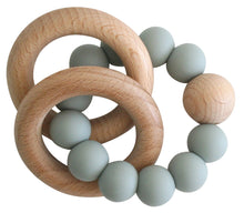 Load image into Gallery viewer, Alimrose Beechwood Teether Ring Set - Sage