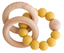 Load image into Gallery viewer, Alimrose Beechwood Teether Ring Set - Butterscotch