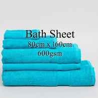 Personalised Bath Sheet - TURQUOISE