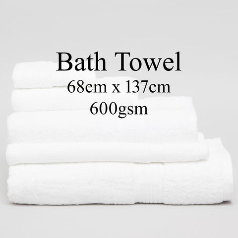 Personalised Bath Towel - WHITE