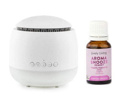 Aroma Snooze Diffuser and Sleep Aid includes 15ml Snooze Essential Oil - WHITE