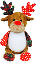 Load image into Gallery viewer, Personalised Harlequin Reindeer Cubby
