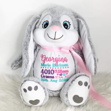 Load image into Gallery viewer, Personalised Bitsy Grey Bunny