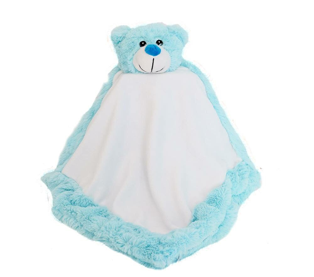 Personalised Blue Bear Blankie Soother Comforter