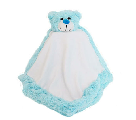 Personalised Blue Bear Blankie