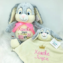 Load image into Gallery viewer, Personalised Grey Bunny Cubby