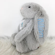 Load image into Gallery viewer, Personalised Jellycat Bashful Bunny - Silver