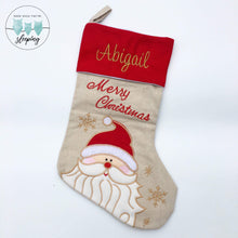 Load image into Gallery viewer, Personalised Christmas Stocking - Santa