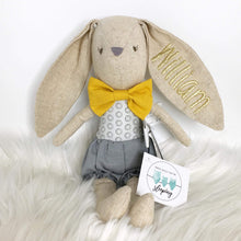 Load image into Gallery viewer, Personalised Alimrose Baby Boy Bunny 26cm