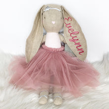 Load image into Gallery viewer, Alimrose Estelle Linen Angel Bunny - Blush 50cm