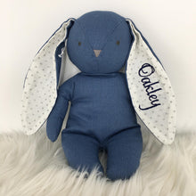 Load image into Gallery viewer, Personalised Alimrose Bobby Floppy Bunny 25CM - CHAMBRAY LINEN