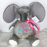 Personalised Grey Elephant EB