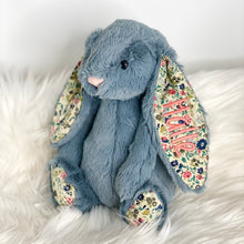Load image into Gallery viewer, Personalised Jellycat Bashful Bunny - Dusky Blossom with apricot embroidery thread