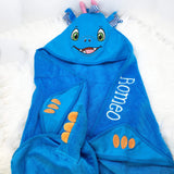 Personalised Hooded Dragon Towel