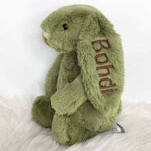 Load image into Gallery viewer, Personalised Jellycat Bashful Bunny Medium - Fern