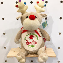 Load image into Gallery viewer, Personalised Taupe Reindeer Cubby