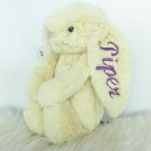 Load image into Gallery viewer, Personalised Jellycat Bashful Bunny - Buttermilk
