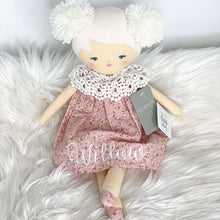 Load image into Gallery viewer, Alimrose Aggie Doll Posy Heart 45cm with white thread for Willow