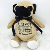 Personalised Pug Dog Cubby