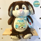 Personalised Brown Bunny Cubby