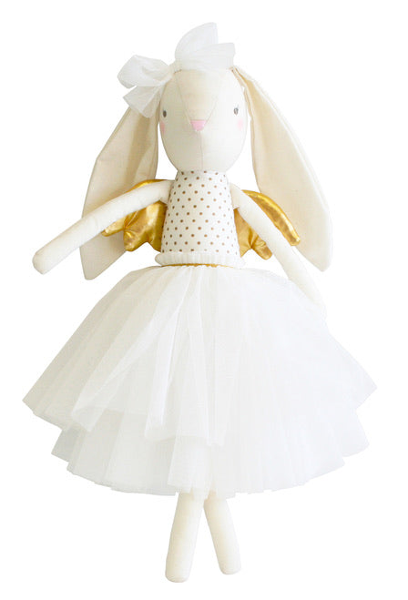 Personalised Alimrose Angel Bunny Gold 50cm