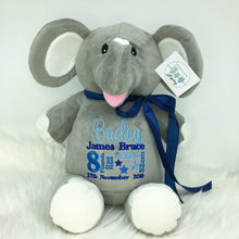 Load image into Gallery viewer, Personalised Grey Elephant