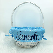 Load image into Gallery viewer, Personalised Willow Wicker Easter Basket - Blue