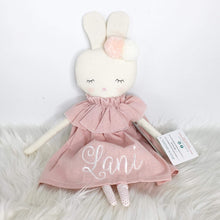 Load image into Gallery viewer, Alimrose Isabelle Bunny 40cm Pink Linen