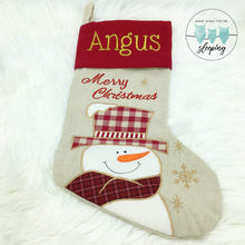 Load image into Gallery viewer, Personalised Christmas Stocking - Snowman